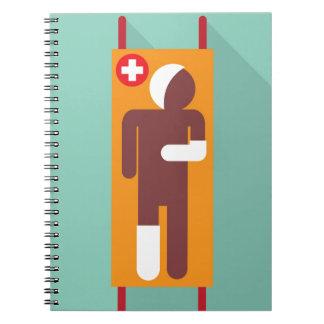 Emergency stretcher Vector Illustration Notebook