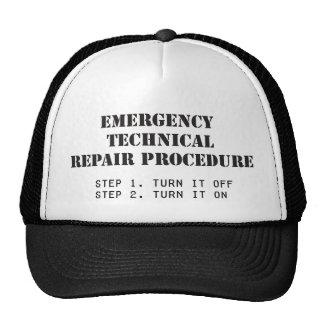 Emergency Technical Repair Procedure Mesh Hat