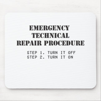 Emergency Technical Repair Procedure Mouse Pads