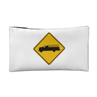 Emergency Vehicle Warning, Traffic Sign, USA Cosmetic Bags