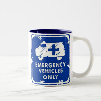 Emergency Vehicles Only Two-Tone Coffee Mug