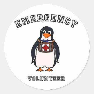 Emergency Volunteer Classic Round Sticker