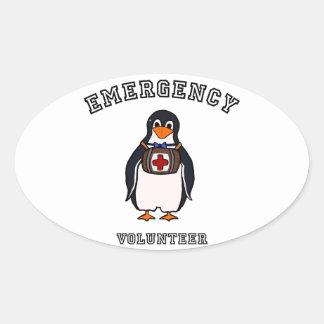 Emergency Volunteer Oval Sticker