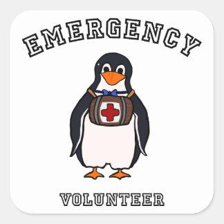 Emergency Volunteer Square Sticker