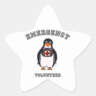 Emergency Volunteer Star Sticker