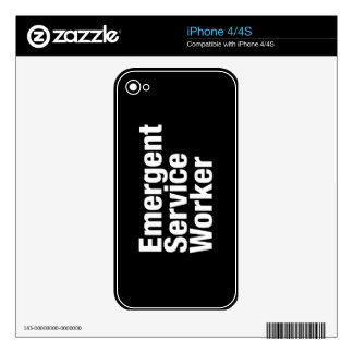 Emergent Service Worker Decals For iPhone 4S