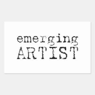 emerging artist rectangular sticker