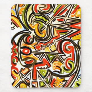 Emerging Butterfly-Abstract Art Hand Painted Mouse Pad