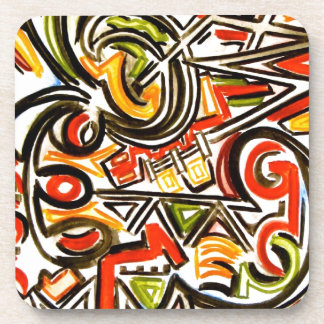 Emerging Butterfly - Abstract Art Handpainted Coaster