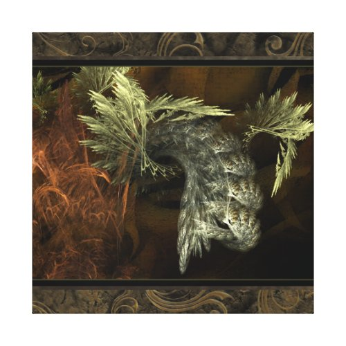 Emerging Fractal Wall Art wrappedcanvas