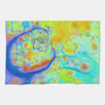 Emerging Galaxies – Teal & Lime Currents Hand Towel