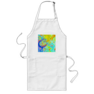 Emerging Galaxies – Teal & Lime Currents Long Apron