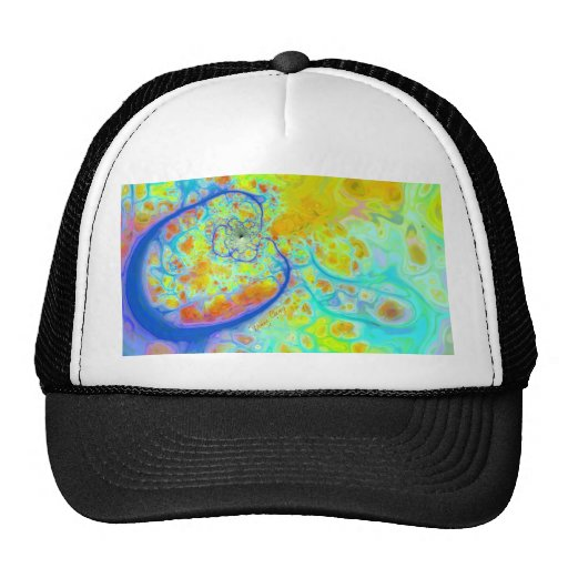 Emerging Galaxies – Teal & Lime Currents Trucker Hat