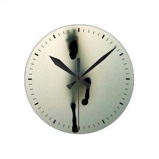 emerging horse wall clock