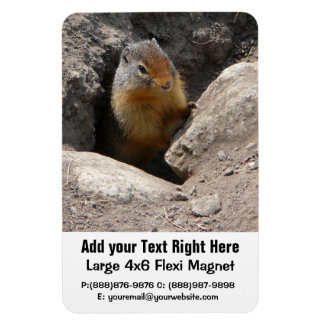 Emerging Rodent Photo Rectangular Photo Magnet