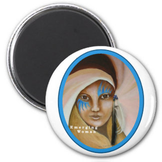 Emerging Woman 2 Inch Round Magnet