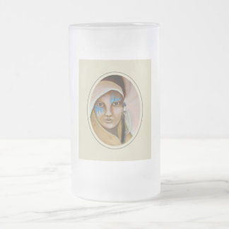 Emerging Woman 3 16 Oz Frosted Glass Beer Mug