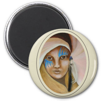 Emerging Woman 3 2 Inch Round Magnet