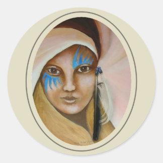Emerging Woman 3 Classic Round Sticker