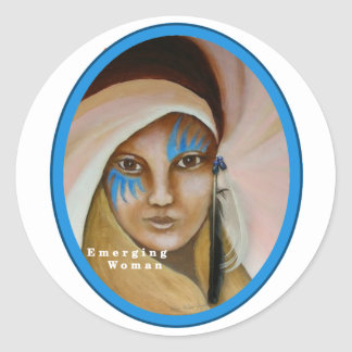Emerging Woman Classic Round Sticker
