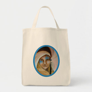 Emerging Woman Grocery Tote Bag
