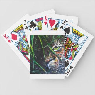 Emerja de la creación de Lovejoy del arte del tigr Baraja Cartas De Poker