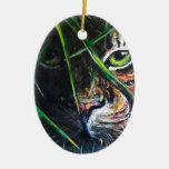 Emerja de la creación de Lovejoy del arte del tigr Ornamento De Navidad