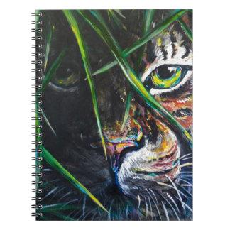 Emerja de la creación de Lovejoy del arte del tigr Libro De Apuntes Con Espiral