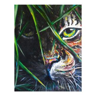 Emerja de la creación de Lovejoy del arte del tigr Membrete