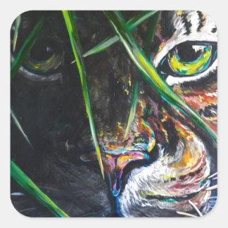Emerja de la creación de Lovejoy del arte del tigr Colcomanias Cuadradas Personalizadas