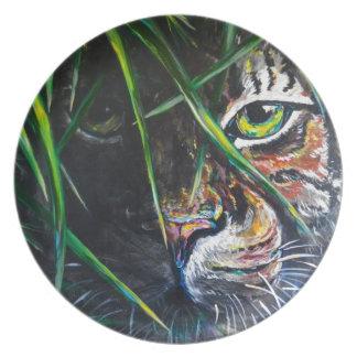 Emerja de la creación de Lovejoy del arte del tigr Plato Para Fiesta