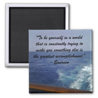 Emerson:  Be Yourself 2 Inch Square Magnet