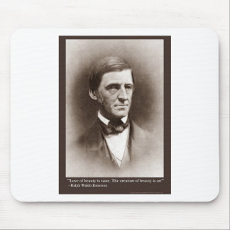 Emerson Beauty/Art Quote Gifts Tees & Collectibles Mouse Pad