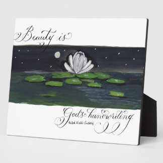 Emerson beauty quote calligraphy art plaques