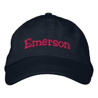 Emerson bordó rosas fuertes de la marina de guerra gorra de beisbol