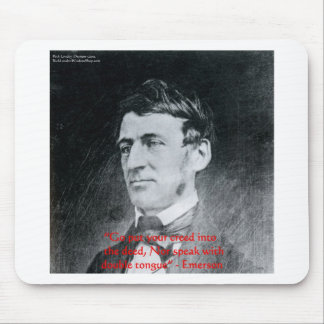 "Emerson ""Creed The Deed"" Wisdom Quote Gifts Mouse Pad"