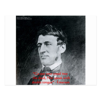 """Emerson """"Creed The Deed"""" Wisdom Quote Gifts Postcard"""