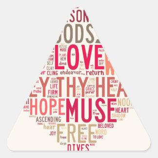 Emerson da todos al amor pegatina triangular