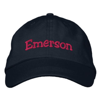 Emerson Embroidered Baseball Cap Navy Hot Pink
