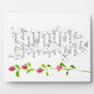 Emerson Every Spirit quote calligraphy art Plaque