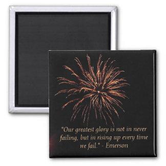 Emerson: Failure 2 Inch Square Magnet