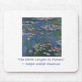 Emerson Flower Quote Mouse Pad