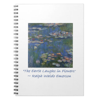 Emerson Flower Quote Notebook