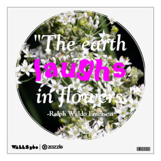 Emerson Flowers Quote Sticker