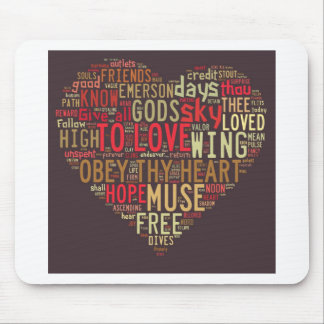 Emerson Give all to love Mouse Pad