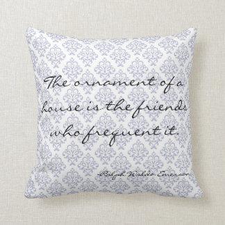 Emerson Home Literary Decorative Quote Pillow