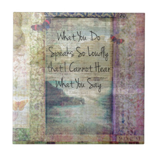 Emerson inspirational quote about life ceramic tile