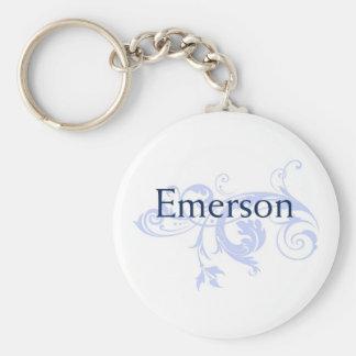 Emerson Basic Round Button Keychain