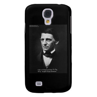 """Emerson """"Life Is Festival"""" Quote Gifts Mugs Galaxy S4 Cover"""