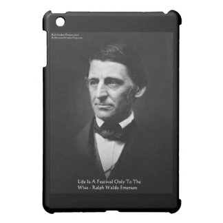"Emerson ""Life Is Festival"" Quote Gifts Mugs Cover For The iPad Mini"